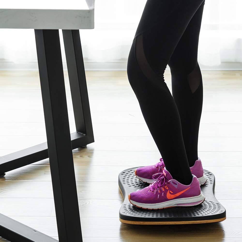 StrongTek Anti Fatigue Balance Board Standing Mat Sit Stand Desk Mat Accessory, Wobble Foot Rocker, Balancing Anti Fatigue Mat, Exercise Core Strength ...