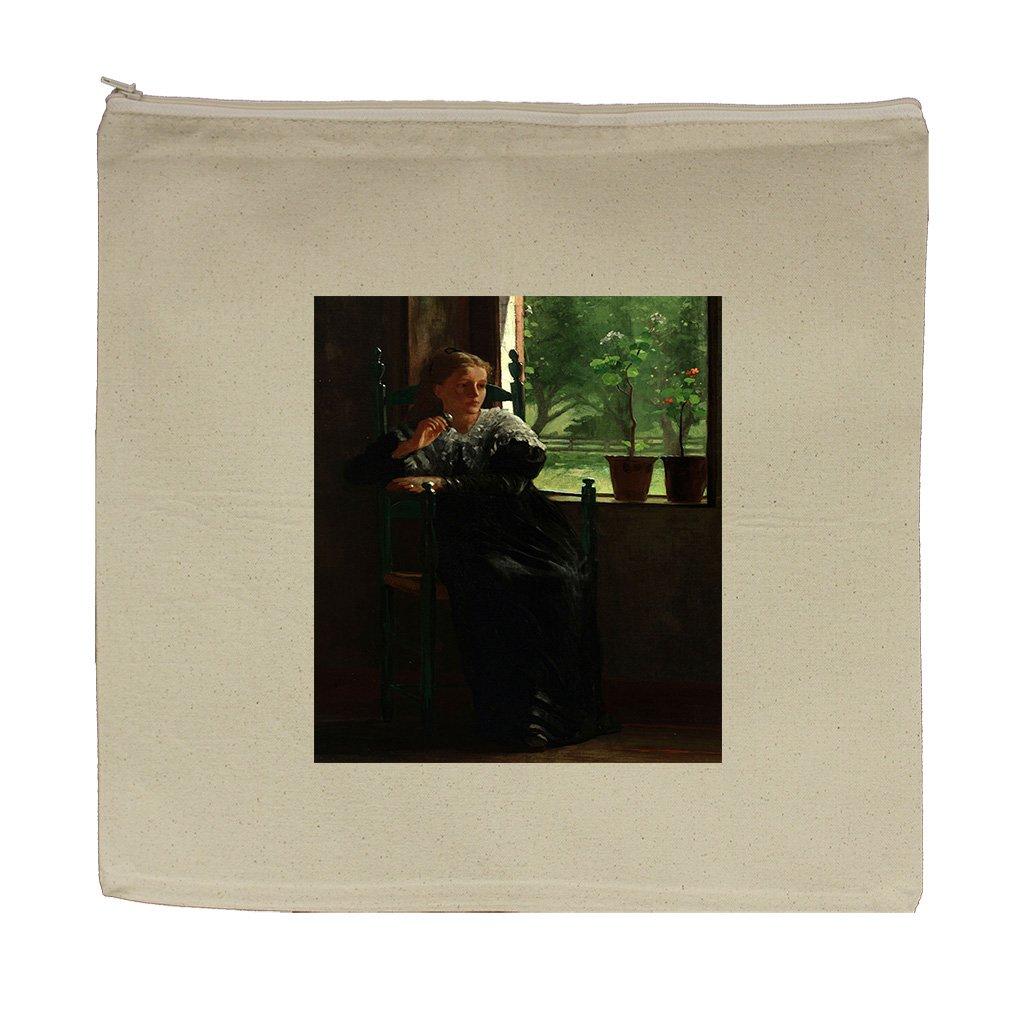 At The Window (Homer) Canvas Zipper Tote Bag Makeup Bag