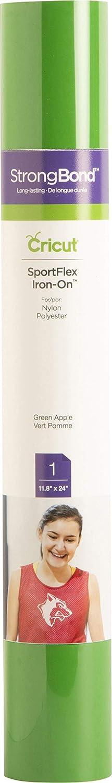 "Cricut SportFlex Iron On Vinyl, DIY Supplies, 11.8"" x 24"" HTV Roll - Green Apple"