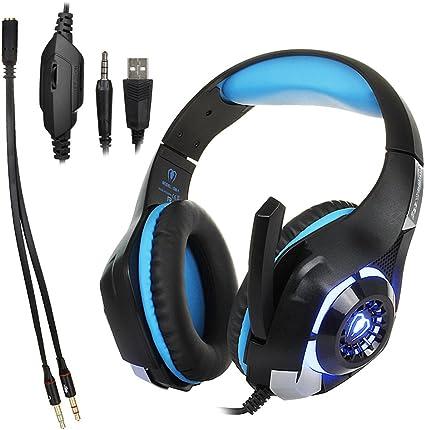 Beexcelente GM-1 - Auriculares de Diadema para Videojuegos (USB 3 ...