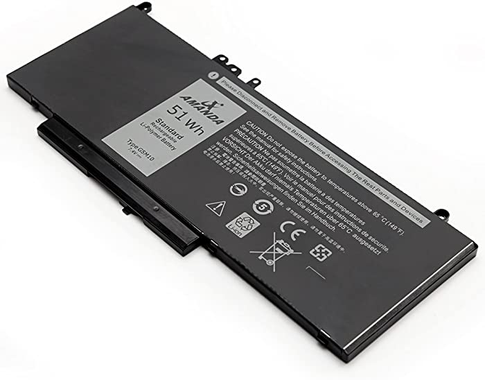 Amanda G5M10 Battery 7.4V 51WH Replacement for Dell Latitude E5550 E5450 Notebook 15.6 inch 0WYJC2 8V5GX
