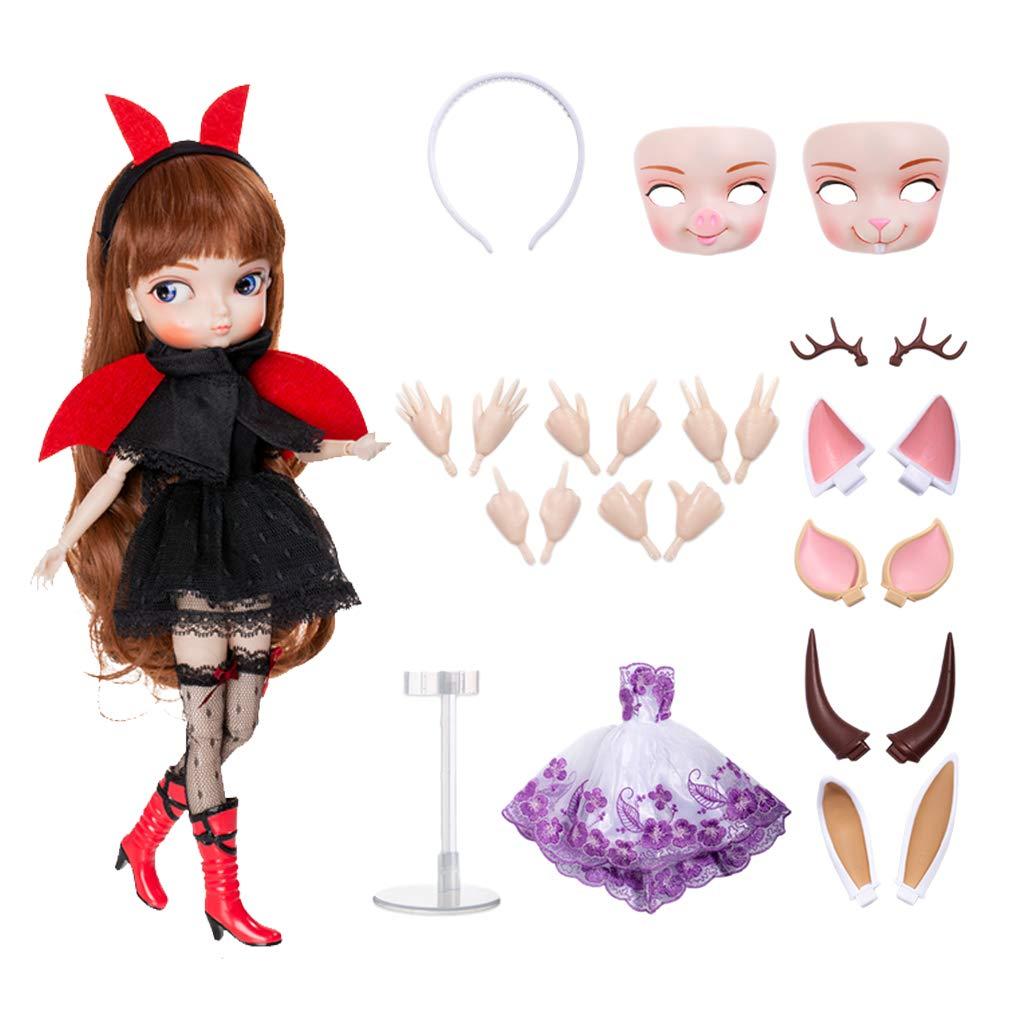 9ab6cd40d468 Non brand Baoblaze 35cm 35cm 35cm Bambola Femminile Action Figure Joint  Ball Girl Doll Modello con Vestiti e Accessori per 1 6 BJD BB Girl Dolls  Fai da Te ...