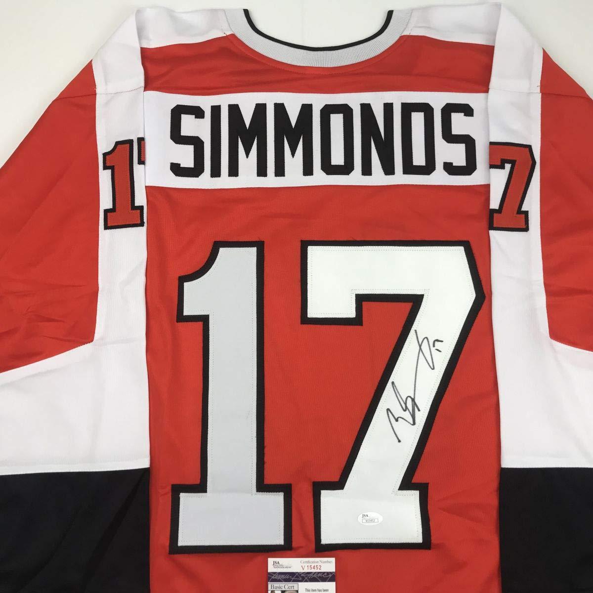 Autographed/Signed Wayne Simmonds Philadelphia Orange Hockey Jersey JSA COA