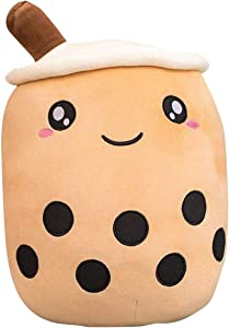 Plush/Plushie   Boba Stuffed Animal   Bubble Tea Milk Tea Pillow   Plush Toy for Kids, Adults, Boba Lover, Super Soft Kawaii Hugging Cushion Realistic Plush Food