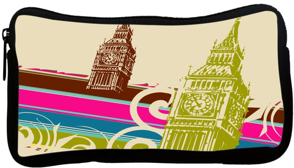 Rikki Knight Fine Art Big Ben Retro Design Multifunction Messenger Bag - School Bag - Laptop Bag - with Padded Insert for School or Work - Includes Pencil Case by Rikki Knight (Image #2)