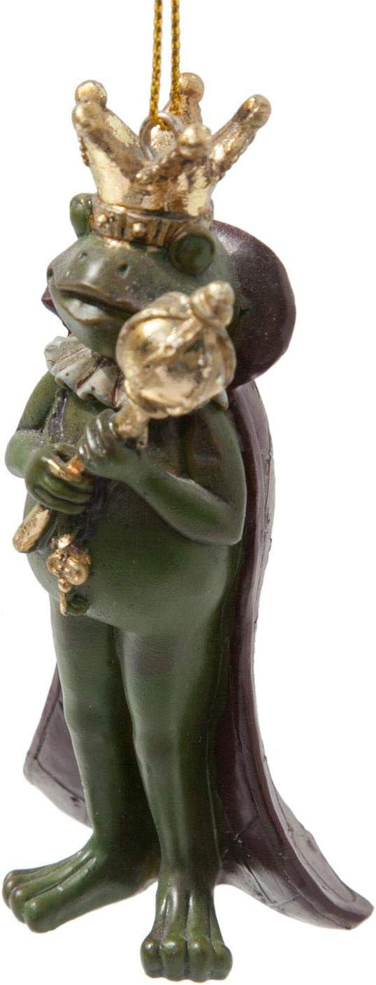 Rosemarie Schulz Froschk/önig Deko Figur Frosch zum H/ängen Fensterdeko