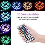 Cynkie Led Strip Lights Waterproof 300leds 32.8ft 10m Color Changing RGB SMD 5050 Flexible LED Light Strip Kit with Remote Controller and 12V 5A Power Supply for Kitchen, Bedroom, Bar, TV Backlight