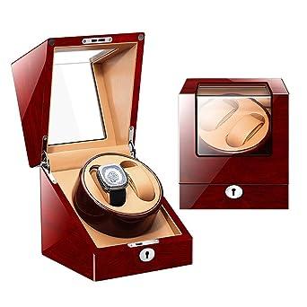 Zyy Caja Giratoria para Reloj para Automático Relojes, 5 Modos con Mudo Motor, Pintura De Piano Brillo Almacenamiento Caja (Color : L0020-3): Amazon.es: Relojes