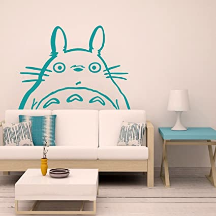 Vinyl Totoro Head Wall Decal Lovely Totoro Wall Sticker Nursery Wall Decor  Wall Graphic Home Art