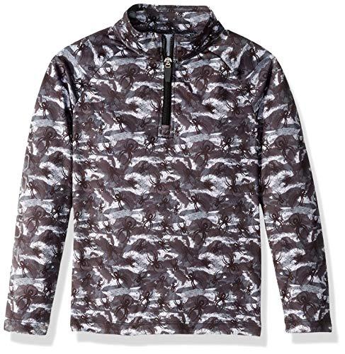(Spyder Boys' Mini Limitless Bug Camo Half Zip T-neck Shirt, Camo Black/Black, Size 4)