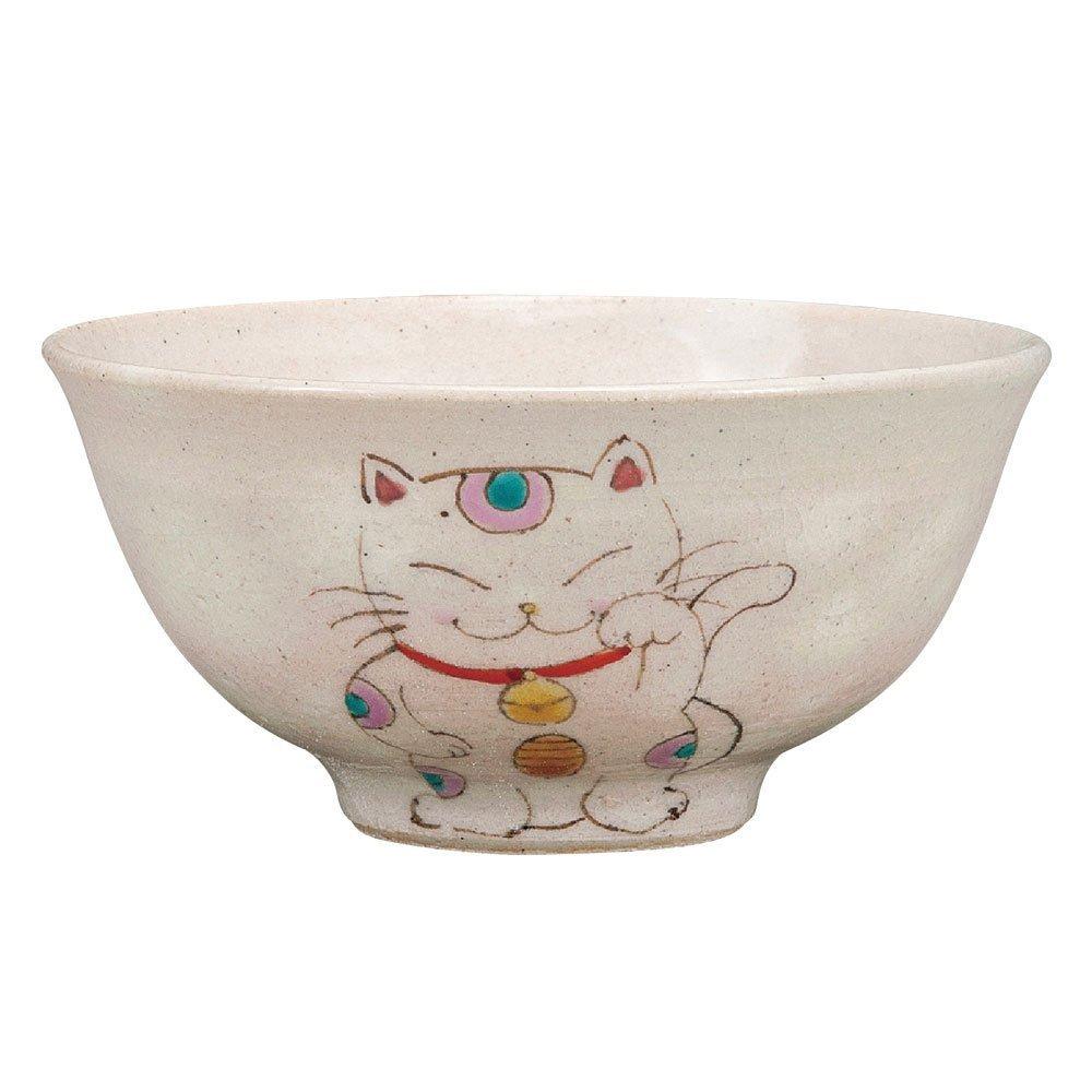 Kutani Yaki(ware) Japanese Rice Bowl Manekineko