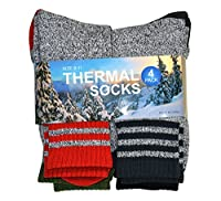 TeeHee Eco Friendly Heavy Weight Recyled Cotton Thermals Boot Socks 4 Pairs