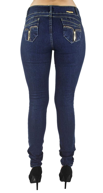 Women Plus//Junior Size Colombian Design Mid Waist Butt Lift Skinny Jeans