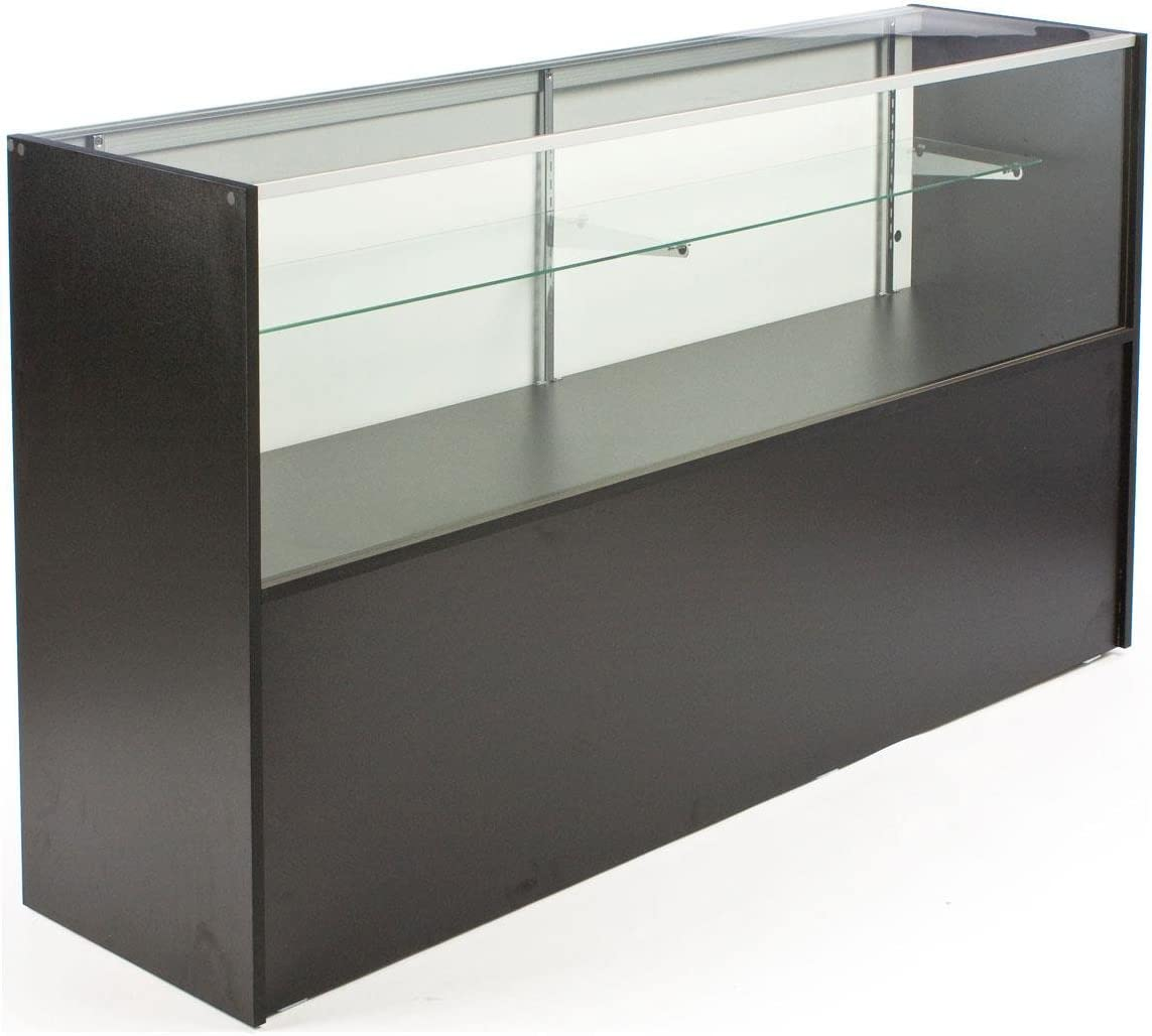 Free-Standing Glass Display Case