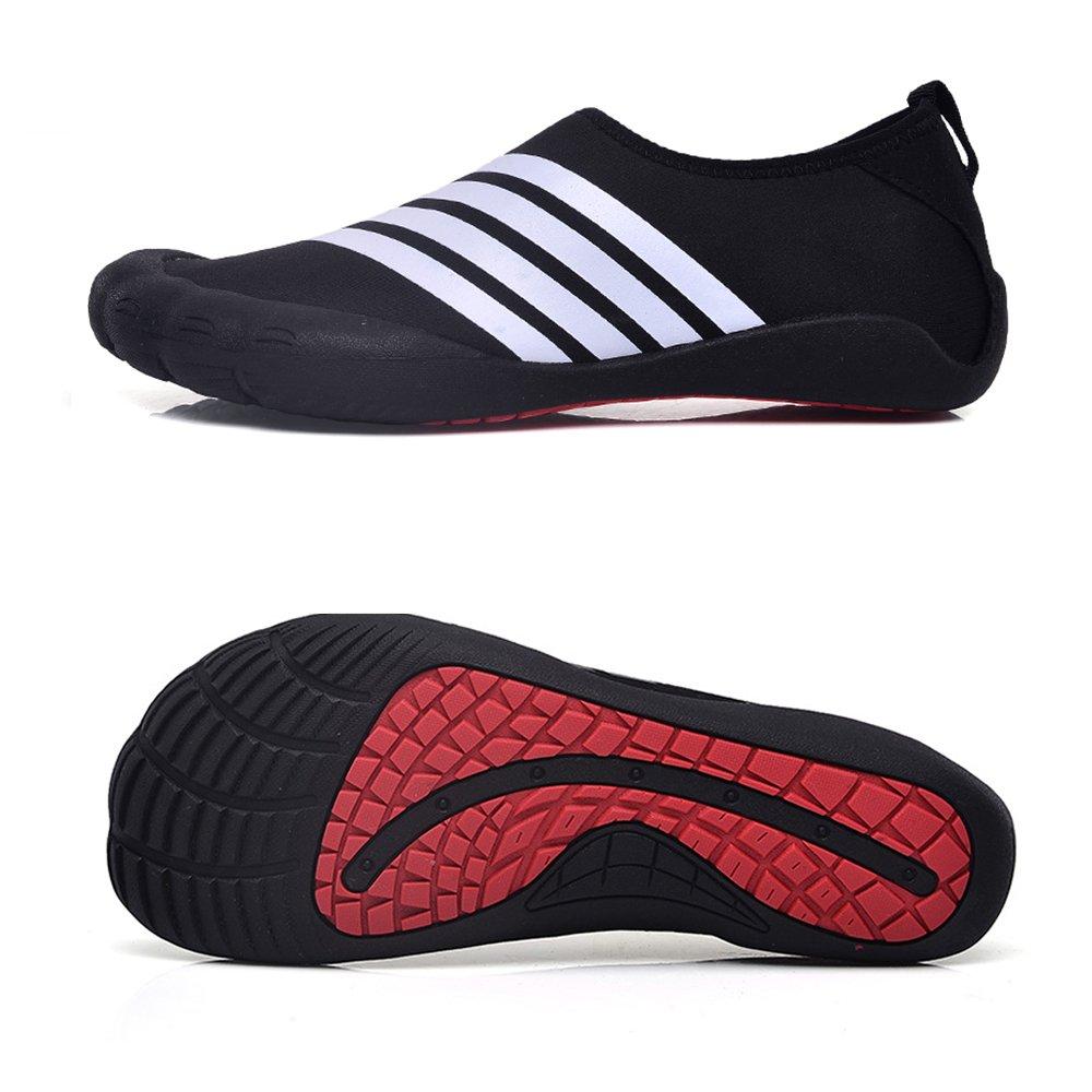 Water Shoes Mens Womens Beach Swim Shoes Quick-Dry Aqua Socks Pool Shoes for Surf Yoga Water Aerobics B07CH8BMPJ 9 D(M) US Tw.white