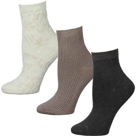 3fbc9a30ad3 H Halston Womens 3 Pack Dress Trouser Socks White 9-11 at Amazon ...