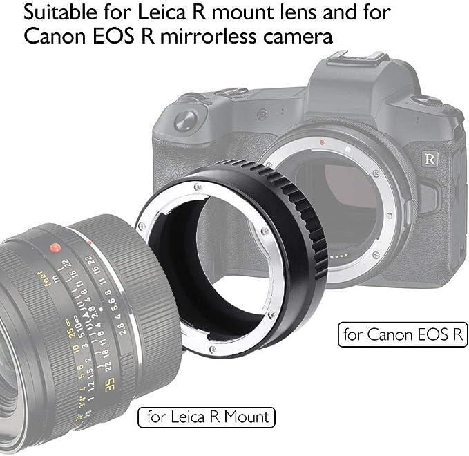 Topiky Anello Adattatore per Obiettivo LR-EOS R per Obiettivo con Attacco Leica R su Anello convertitore per Obiettivo per Fotocamere mirrorless Canon EOS R