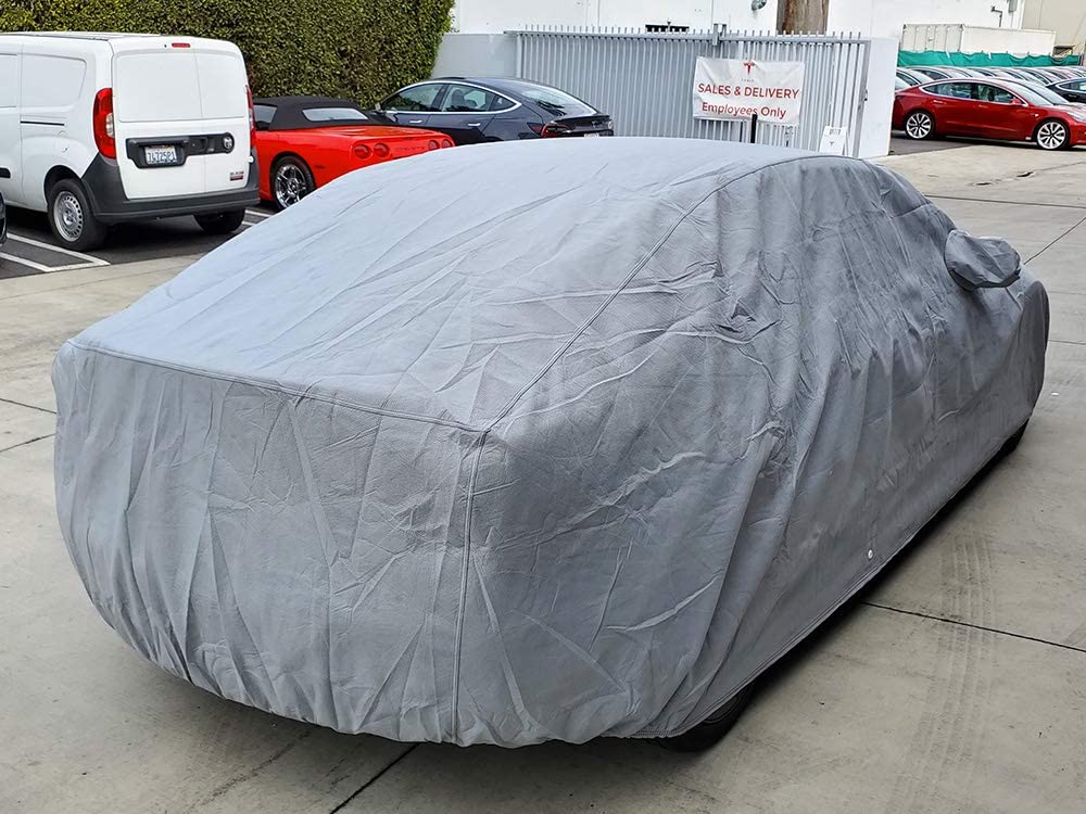 CarsCover Custom Fit Tesla Model 3 Car Cover Heavy Duty All Weatherproof Ultrashield Covers