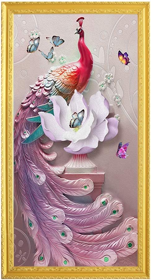 Canvas print animal cartoon peacock painting decorative pictures for bathrooms