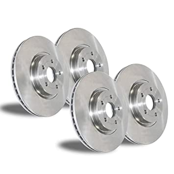 Front Rotors /& Semi-Metallic Brake Pads for 2014-2015 Mitsubishi Mirage