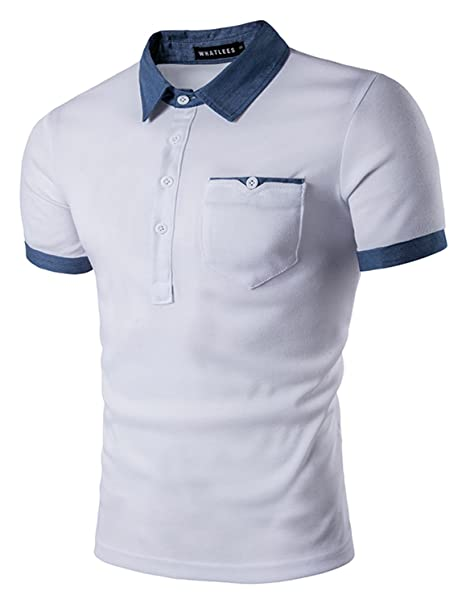 YCHENG Premium Polo Camisetas para Hombre Manga Cortas con Botón ...