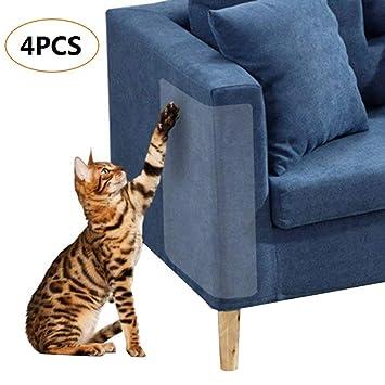 4 Piezas de protección contra rayones para Gatos, Protectores contra rayones Flexibles y Transparentes para Gatos, sin Clavijas 8.5 x 5.9: Amazon.es: ...