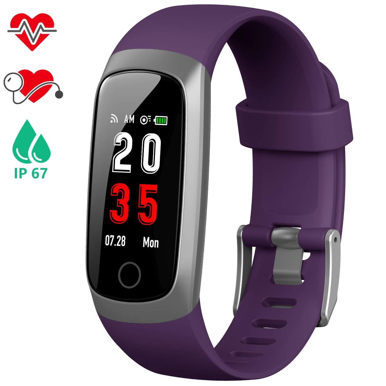 iPosible Pulsera Actividad, Reloj Inteligente Mujer Hombre con Pulsómetro Presión Arterial Pulsera Inteligente con Cronómetro