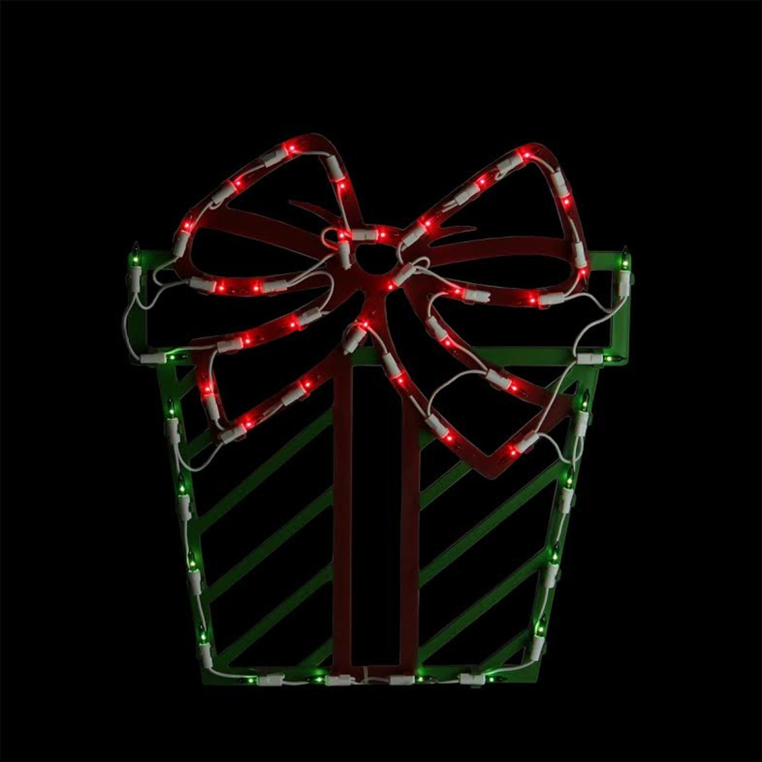impact innovations christmas lighted window decoration poinsettia 95019d