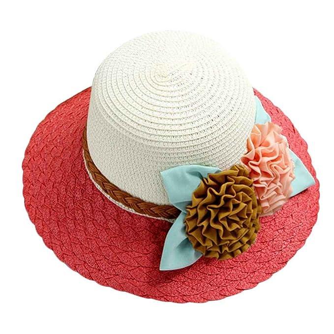 dcbf4a6154474 Mengonee Recorrido al aire libre de verano Beach acampan Mujeres ancha Cap  Panamá Protección UV sombrero
