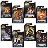 Toy hot wheels Hot Wheels Star Wars Diecast die-cast Cars Complete Set of 8 Model: MCJY04 replica miniature minicar model car airplane doll [parallel import goods]