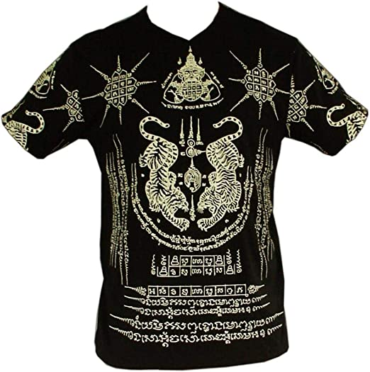 Tiger Yantra – Camiseta, Antigua Camboya – Símbolos, jemer Tattoo sintética, : Amazon.es: Ropa y accesorios