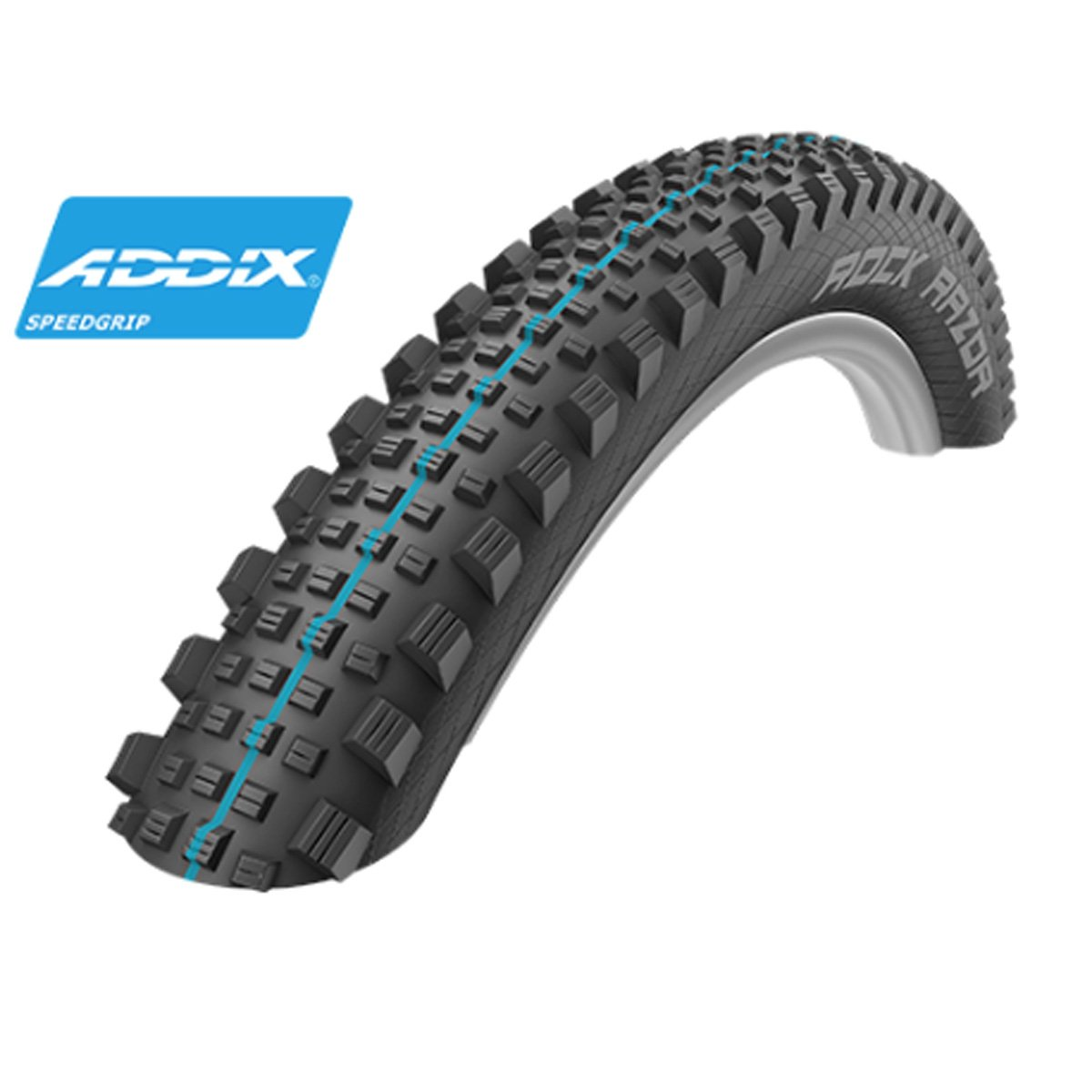 Schwalbe Rock Razor HS 452 Addix SpeedGrip Snakeskin TL Easy Apex Mountain自転車タイヤ – 折りたたみ B0777MKT83ブラック 27.5 x 2.60