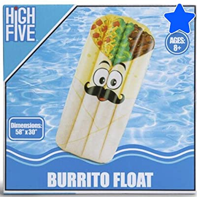 SD Burrito Float Kids Adults Teens Float Bonus SD Cheeky Cup Holder Loungers Backyard Fun Play Center Lounge Water Slide Inflatable Summer Outdoor Pool Fun Swimming: Toys & Games