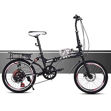 HUALQ Bicicleta A20 20 Pulgadas de Doble Disco de Frenos Plegables Bicicleta de Velocidad Niños Ultra