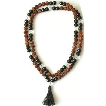 Amazon.com: Odishabazaar Black Onyx Unknoted Chakra Japa ...