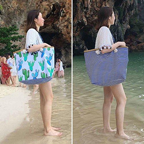 Diealles Lona Mujeres para y Playa Grande Mujer Playa de de Bolsa Bolsa con Niñas de Grande Cremallera TWpqrTR
