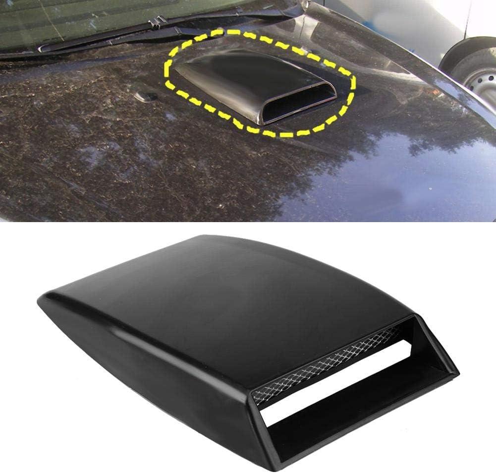 Automotive Air Flow Intake Bonnet Carbon Fiber Automoile Air Vent Turbo Bonnet Cover DIY Car Accessories Acouto Universal Car Decorative Hood Scoop Black