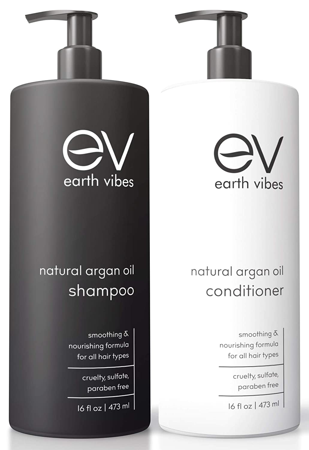 Earth Vibes Organic Moroccan Argan Oil Shampoo & Conditioner Set