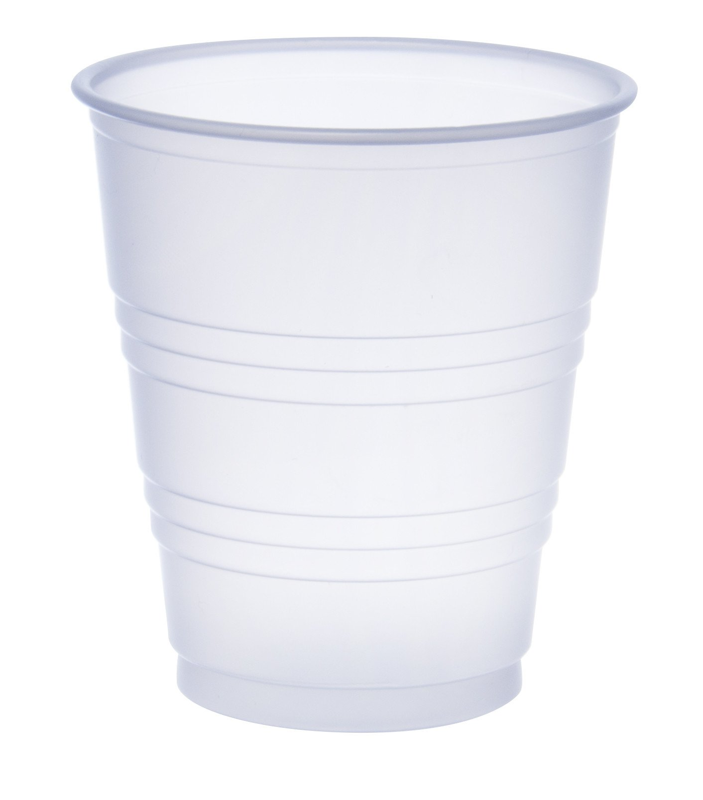 Dart Y5 5 oz Trans Ribbed Wall PS Cup (Case of 2500)