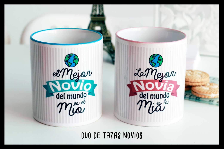 Tazas Dúo Mejor novio y novia del mundo: Amazon.es: Handmade