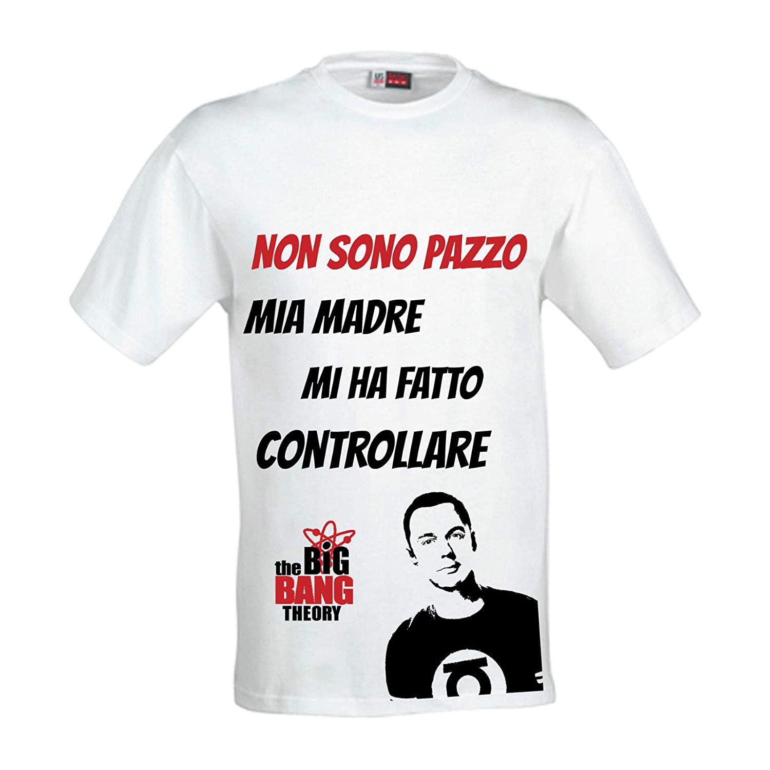 T-Shirt uomo Sheldon Cooper di The Big Bang Theory, scegli la tua taglia!