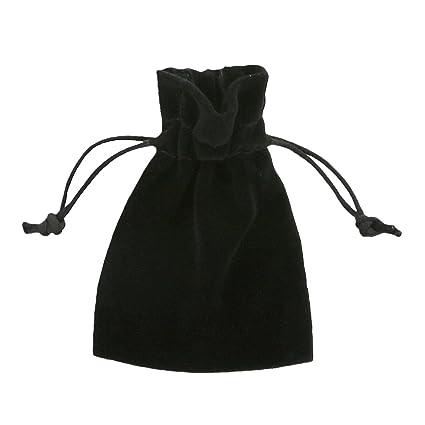 100 piezas Pequeñas Bolsas de Terciopelo 7,5x10cm Negra ...
