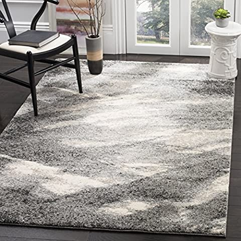 Safavieh Retro Collection RET2891-8012 Modern Abstract Grey and Ivory Area Rug (8' x 10') (Area Rugs 8x10 Modern)
