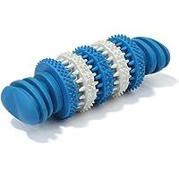 Kalen Dog Toys - Juguetes de goma natural resistentes a las mordeduras para perros, suministros para mascotas (azul)