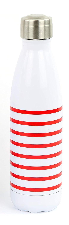 26,5 CM YOKO DESIGN Bouteille Isotherme 500 ML Mariniere Rouge Adulte Unisexe