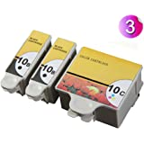 AA+inks 3x Compatible Ink Cartridge Replace for Kodak 10B 10C Ink For Easyshare ESP5250 ESP6150 ESP7250 ESP9250 ESP5210 3250 Printers (2x 10B Black 1x 10C Color)