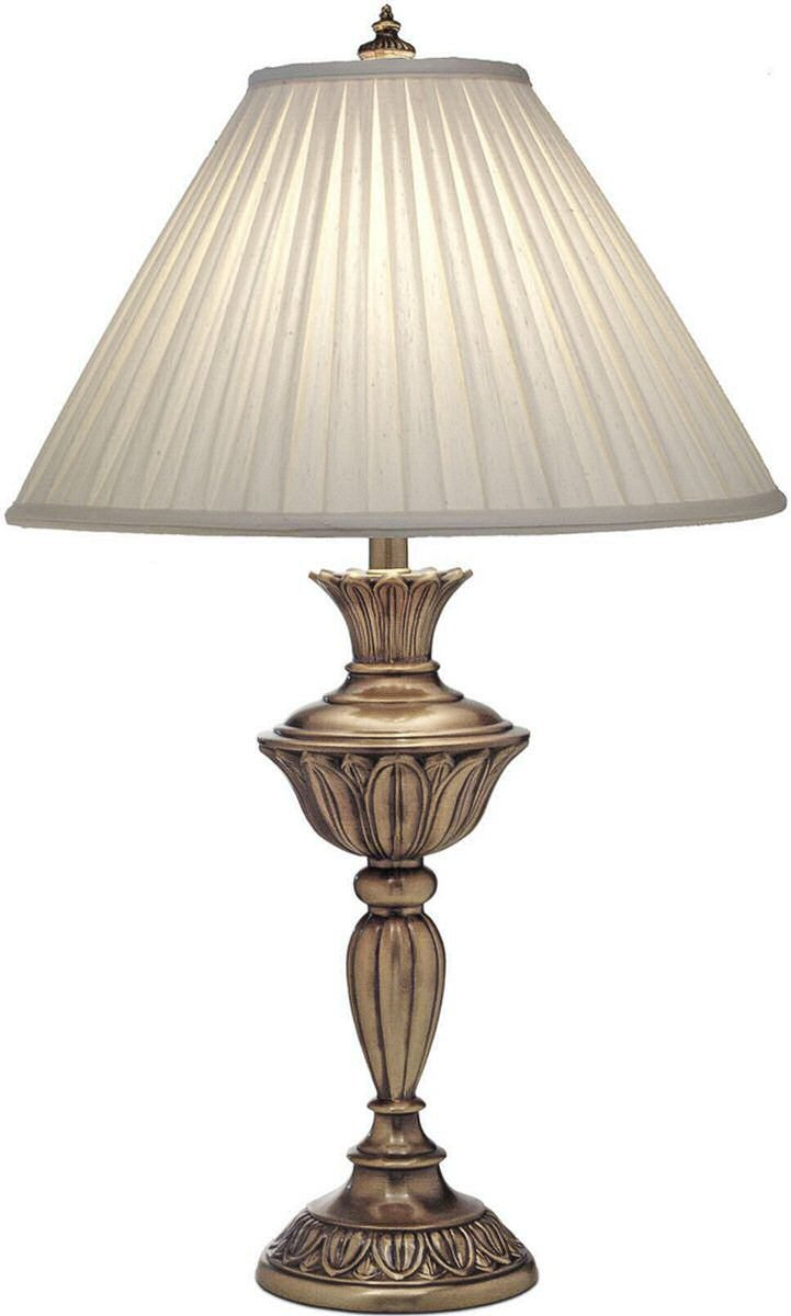 Stiffel TL-N8525-AGB One Light Table Lamp, Aged Brass Finish with Honey Beige Shade