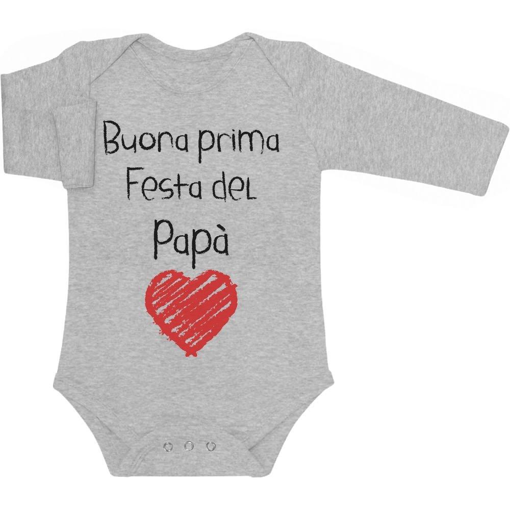 Buona Prima Festa Del Papà - Regalo per il Padre Body neonato manica lunga VSCQwwD6W1hhE