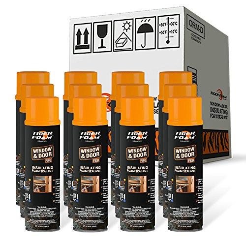Tiger Foam Window & Door Pro 24oz Insulating Foam Sealant - Case of 12 by Tiger Foam