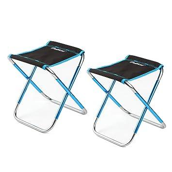 NUZAMAS - Juego de 2 sillas Plegables para Acampada, Color ...